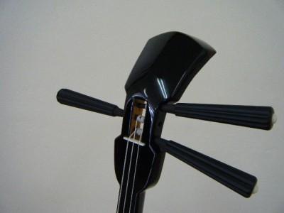 縞黒檀ヘビ皮1枚張りデザインカラクイ